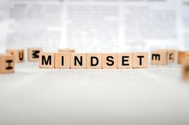 Scrabble blocks spell out MINDSET