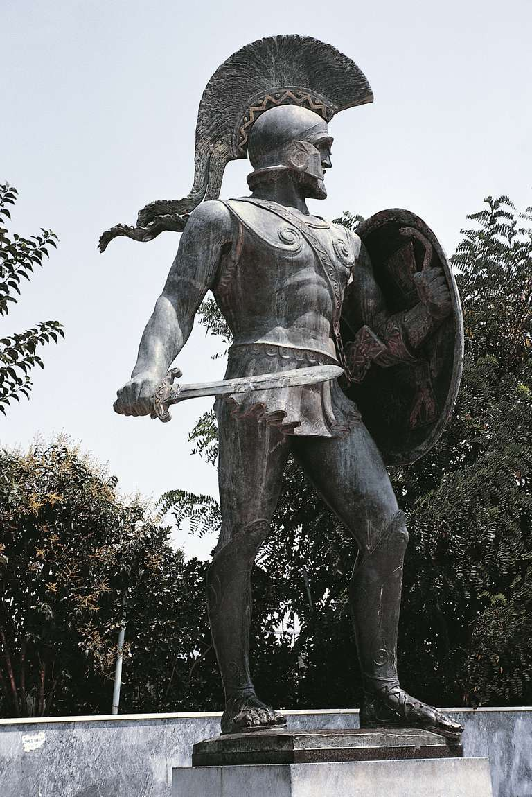 Statue of Leonidas, King of Sparta between 490 and 480 BC, Sparta, Greece