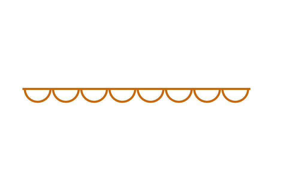 Dry line symbol on a white background.