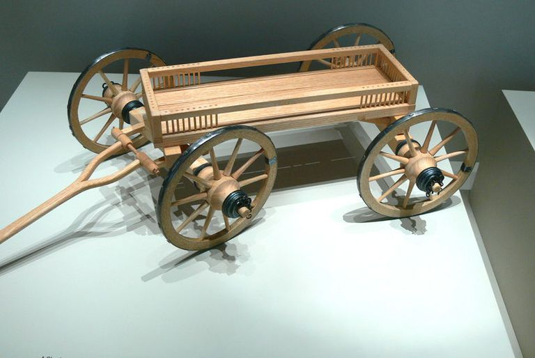 Model of a Hallstatt Wagon at the German National Museum in Nuremberg