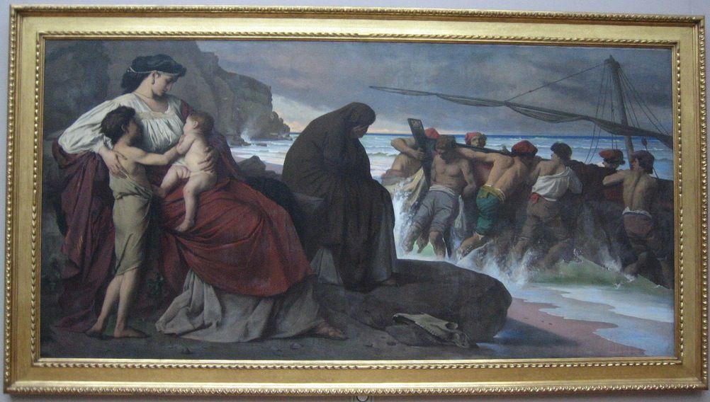 Medea und ihre Kinder, von Anselm Feuerbach (1829-1880) 1870.