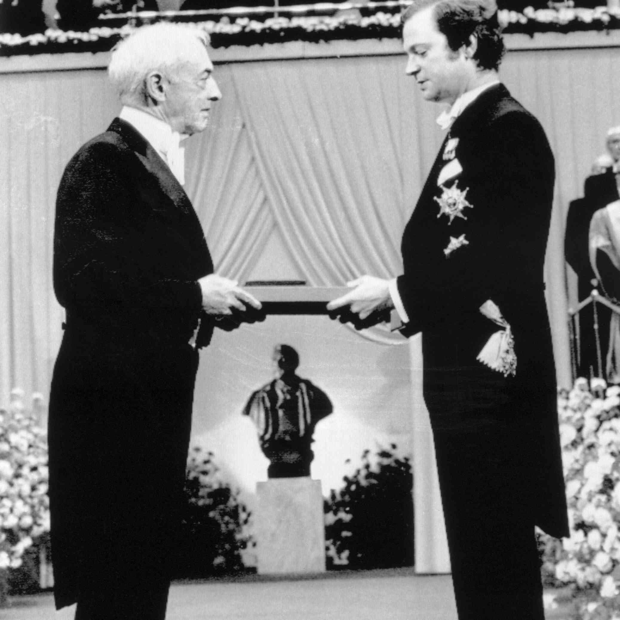 King Carl Gustaf Giving Saul Bellow Nobel Prize