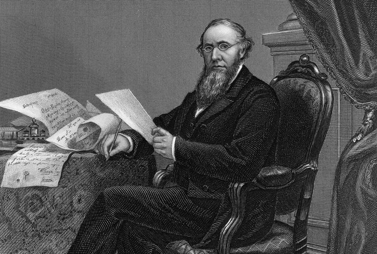 Engraved portrait of Edwin M. Stanton, Lincoln's secretary of war
