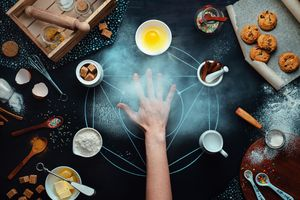 A hand with ingredients