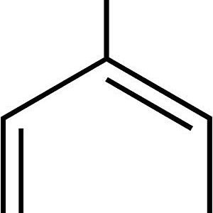 This is the chemical structure of fluorobenzene.