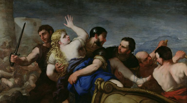 The Abduction of Helen (oil on canvas)