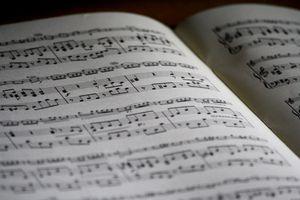 A photograph of piano sheet music