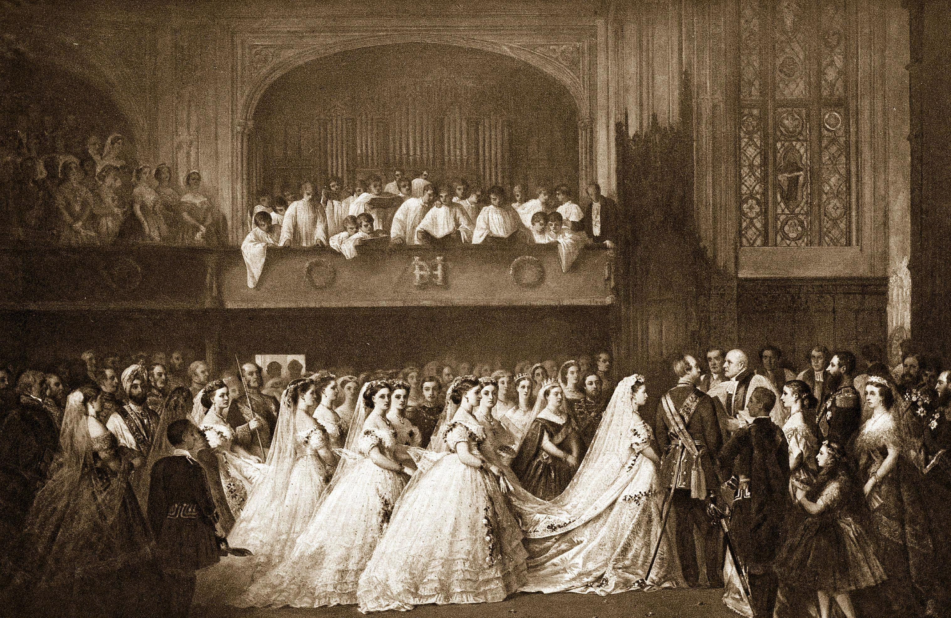 ビクトリア女王の娘ヘレナの結婚式。