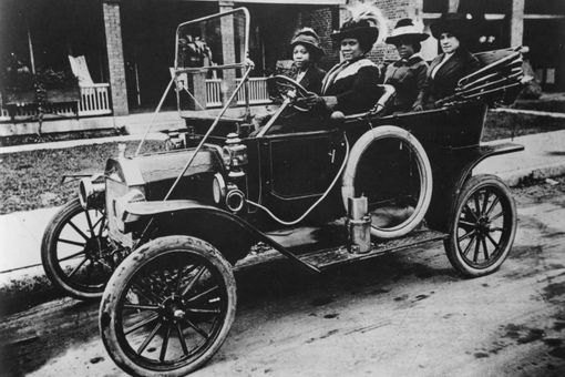 Madam C.J. Walker Driving a car