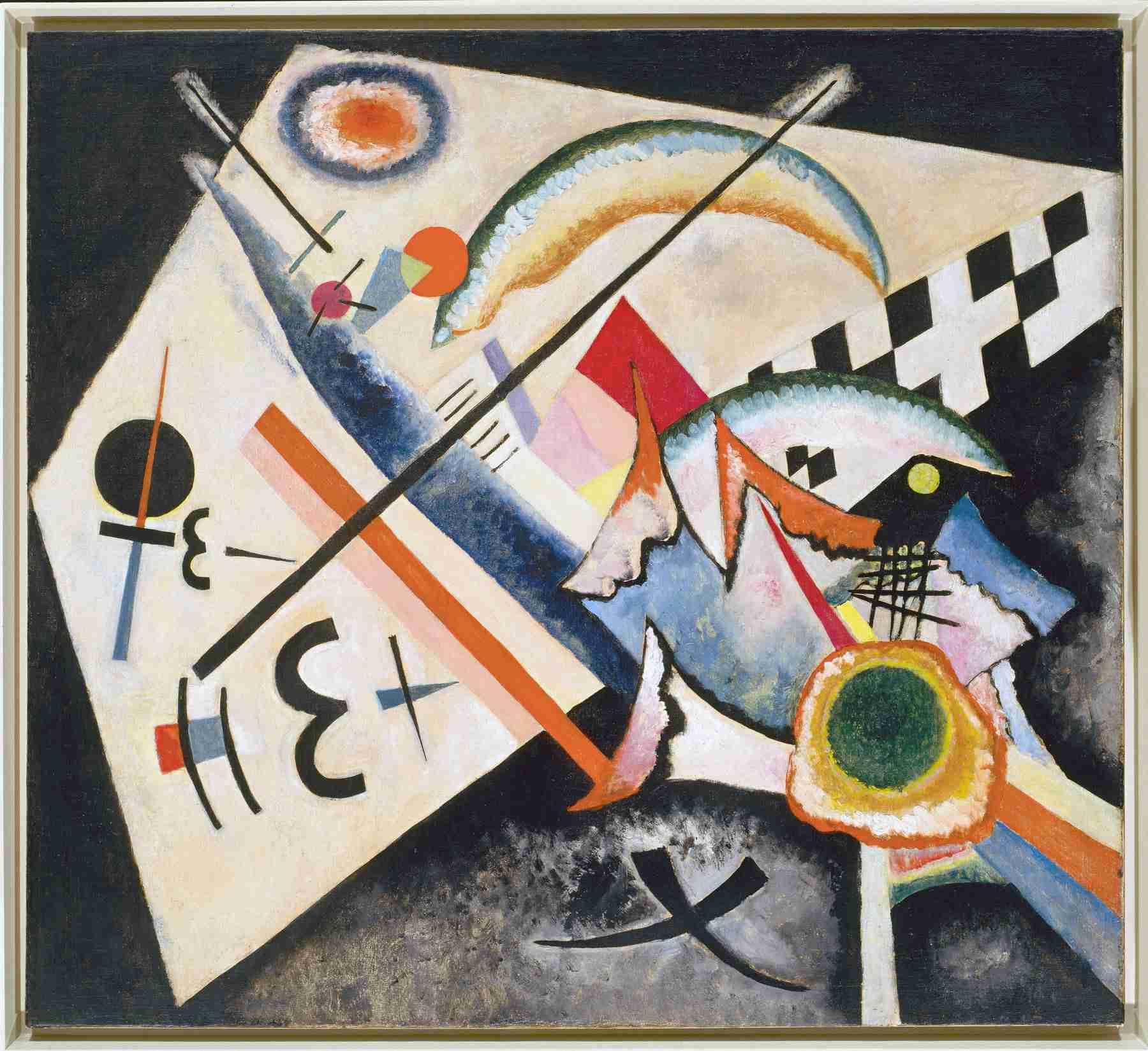 Wassily Kandinsky (Russian, 1866-1944) Wassily Kandinsky (Russian, 1866-1944). White Cross (Weißes Kreuz), January-June 1922. Oil on canvas. 39 9/16 x 43 1/2 in. (100.5 x 110.6 cm). Peggy Guggenheim Collection, Venice 76.2553.34. Solomon R. Guggenheim Foundation, New York.
