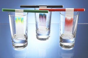 Simple paper chromatography setup