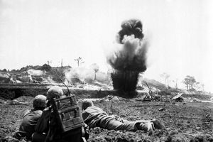 Fighting on Okinawa, 1945
