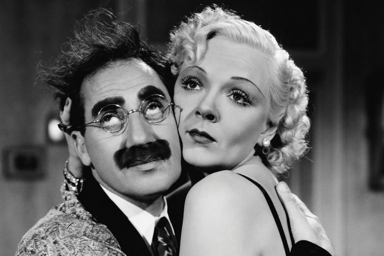 Groucho Marx and Esther Muir Acting a Scene from A Day at the Races