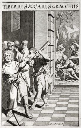 Illustration of Tiberius Gracchus and Gaius Gracchus