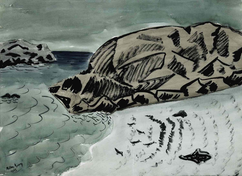 milton avery seascape with birds
