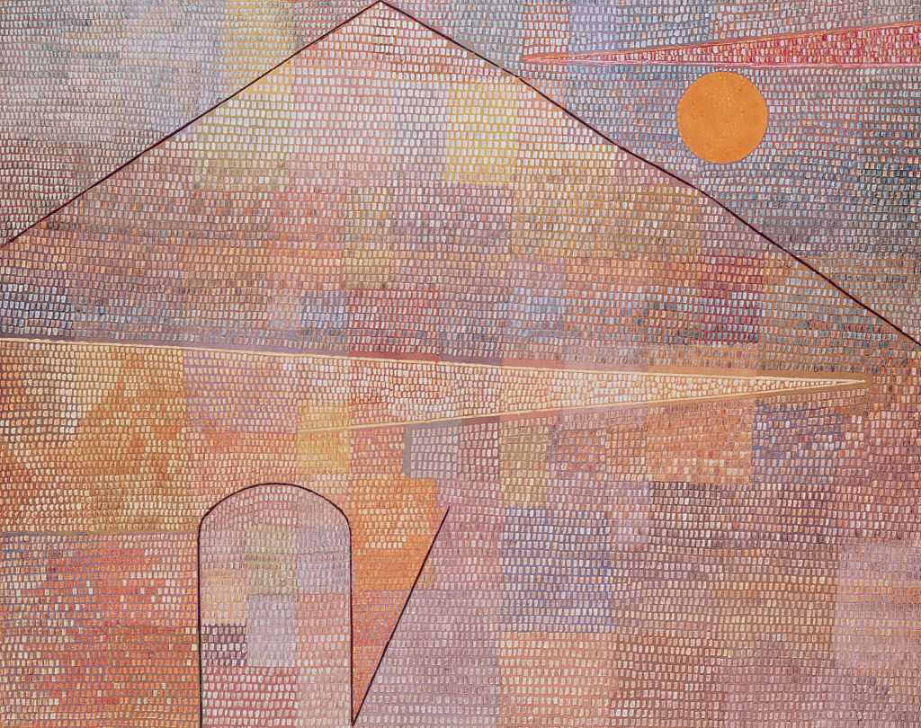 Abstract painting of a building by Paul Klee