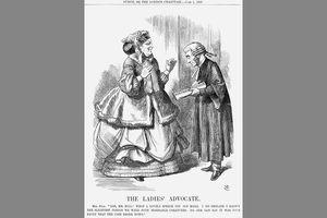 Mrs Bull and John Stuart Mill suffrage cartoon