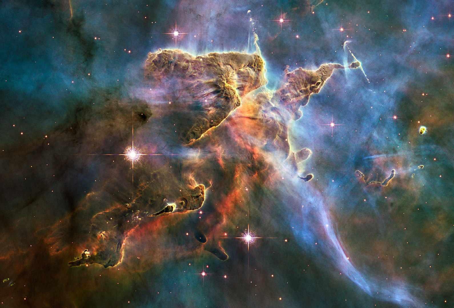 Stars in the Carina nebula.