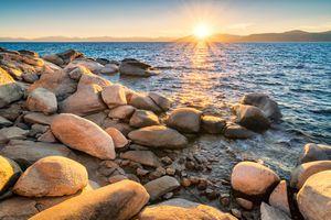 Sunset at Lake Tahoe USA