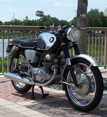 the honda 305 a motorcycle without oil leaks. Black Bedroom Furniture Sets. Home Design Ideas