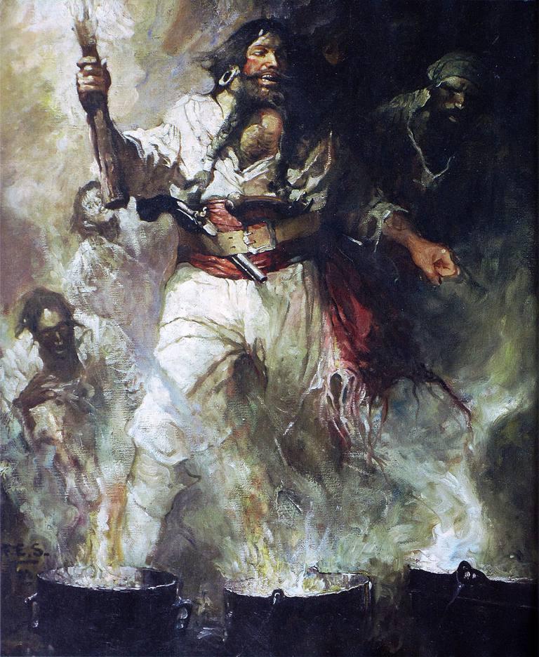 Blackbeard in Smoke and Flames