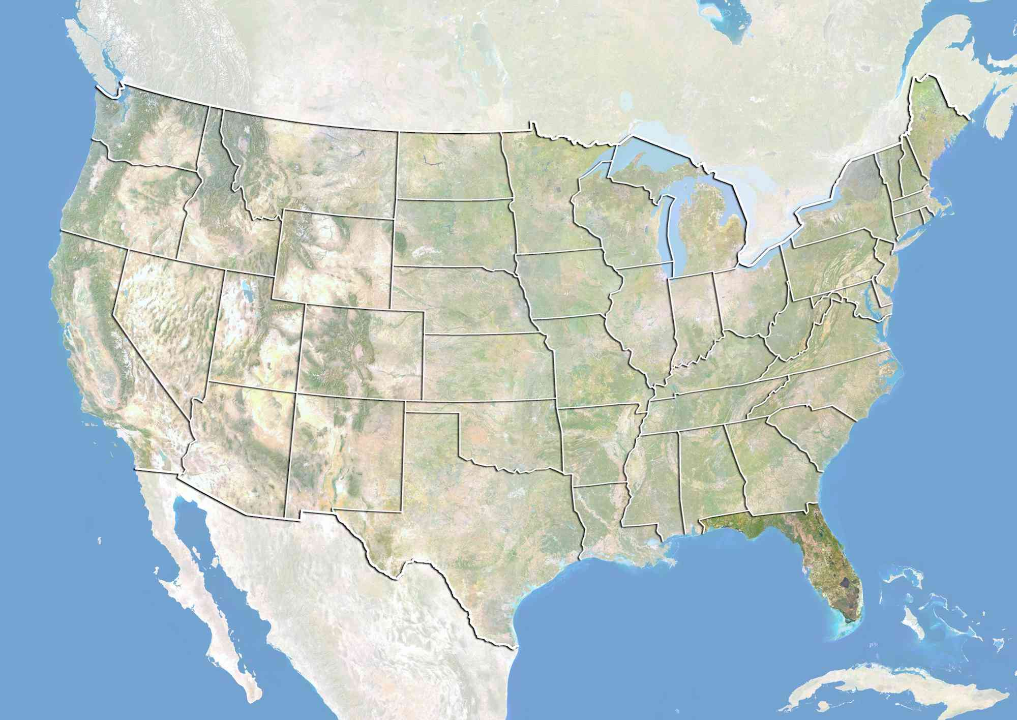 Geography of the Gulf of Mexico Border States