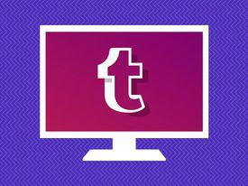 Tumblr icon on computer screen