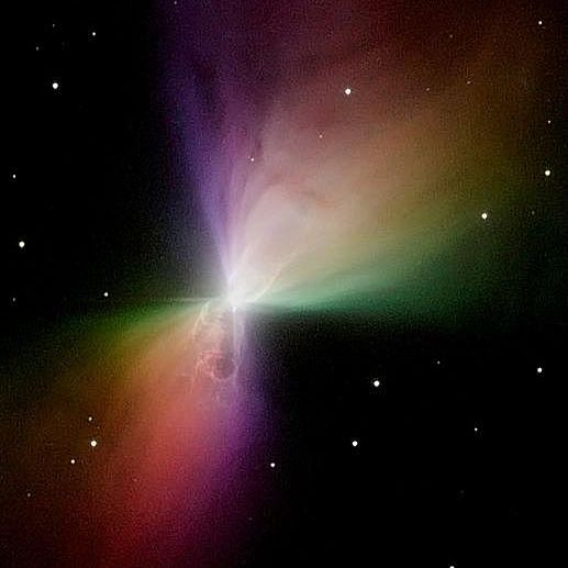 Image of the Boomerang Nebula taken by the Hubble Space Telescope.