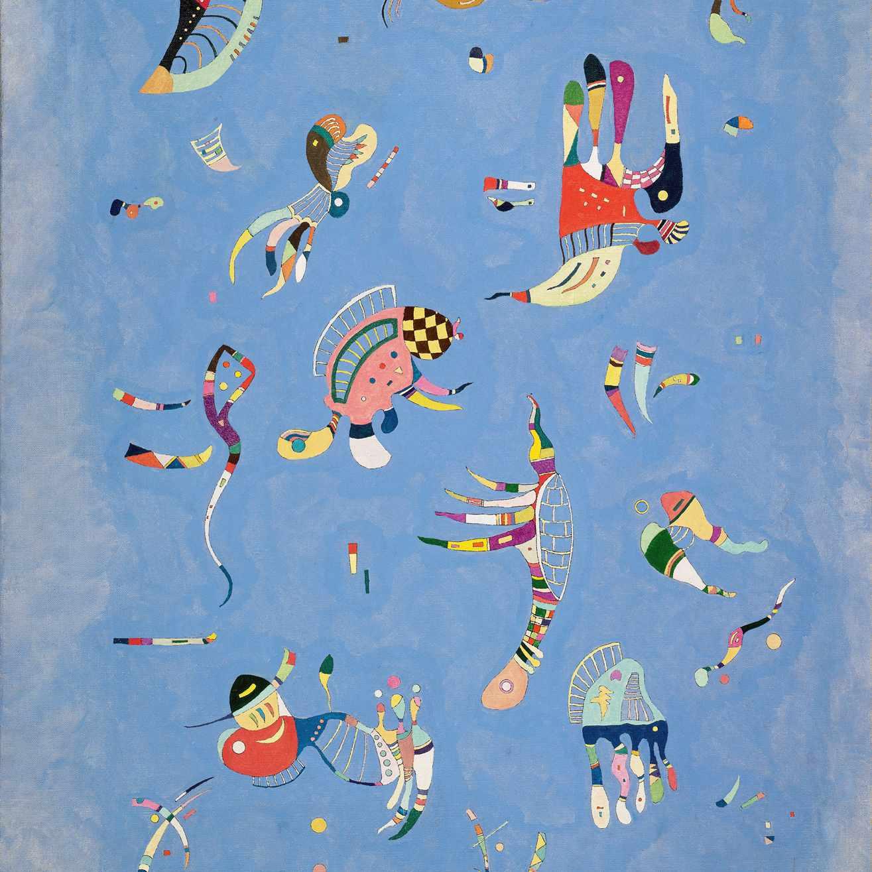 Wassily Kandinsky (Russian, 1866-1944) Wassily Kandinsky (Russian, 1866-1944). Sky Blue (Bleu de ciel), March 1940. Oil on canvas. 39 5/16 x 28 3/4 in. (100 x 73 cm). Gift of Nina Kandinsky, 1976. Musée national d'art moderne, Centre Pompidou, Paris.