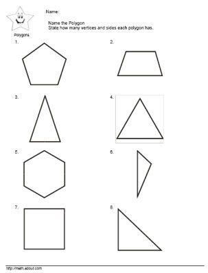 geometry worksheets polygons angles and vertices. Black Bedroom Furniture Sets. Home Design Ideas