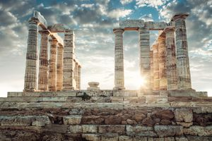 Historical ruins in Athens, Greece