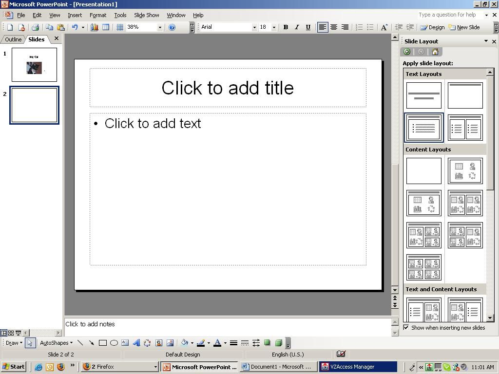 how to create a simple powerpoint presentation