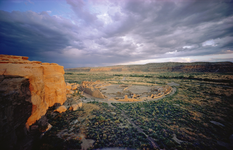 ruines Anasazi dans Chaco Canyon, Nouveau-Mexique