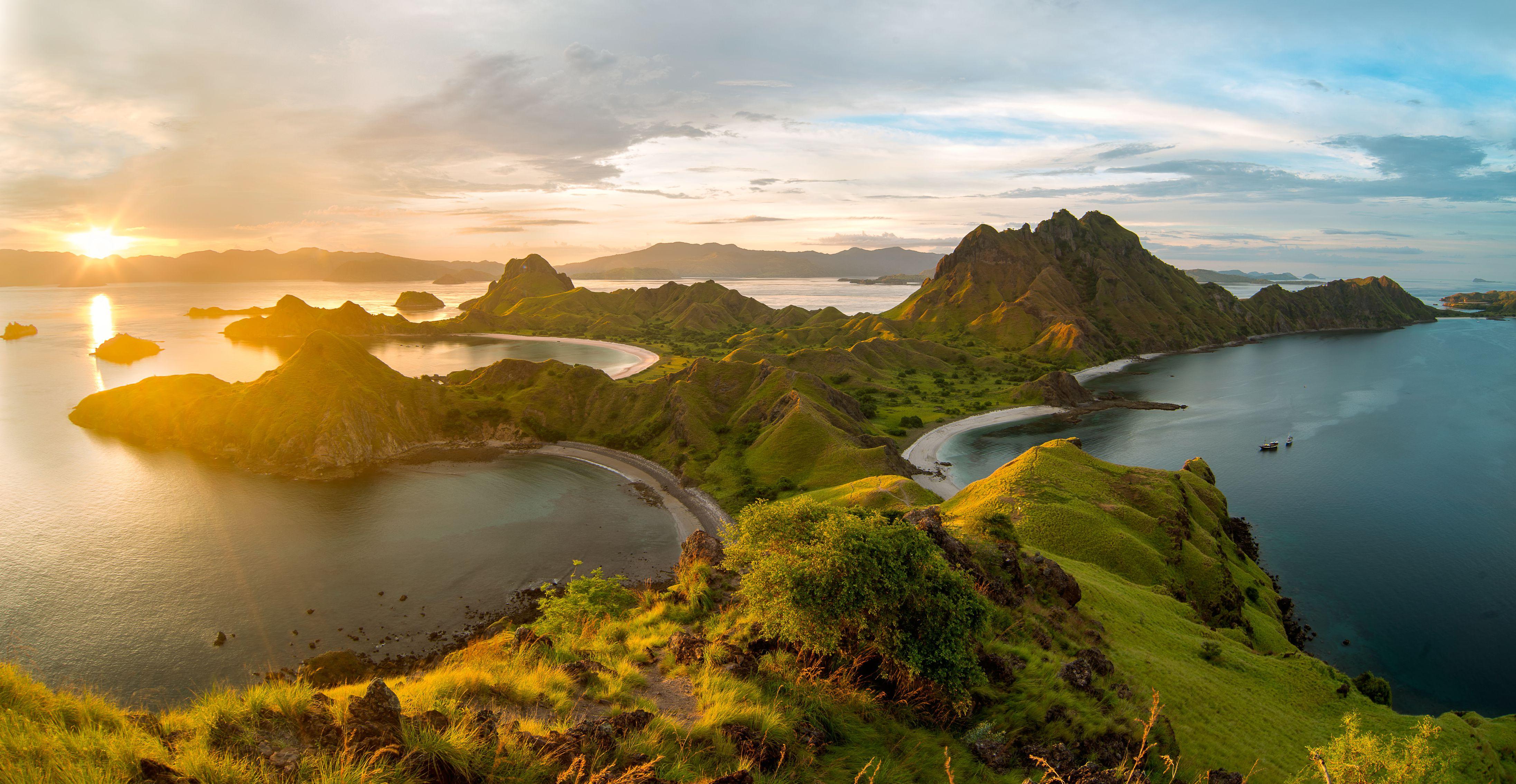 Sunset over Padar Island, Indonesia