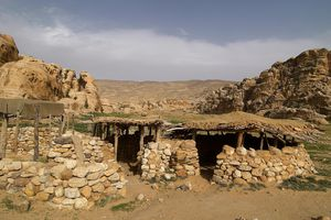 House in the Pre-Pottery Neolithic Village of Beidha, Jordan, 7200-6500, 7th-6th Millenium B.C., stone, clay and wood building'