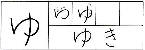 how to write the hiragana yu character