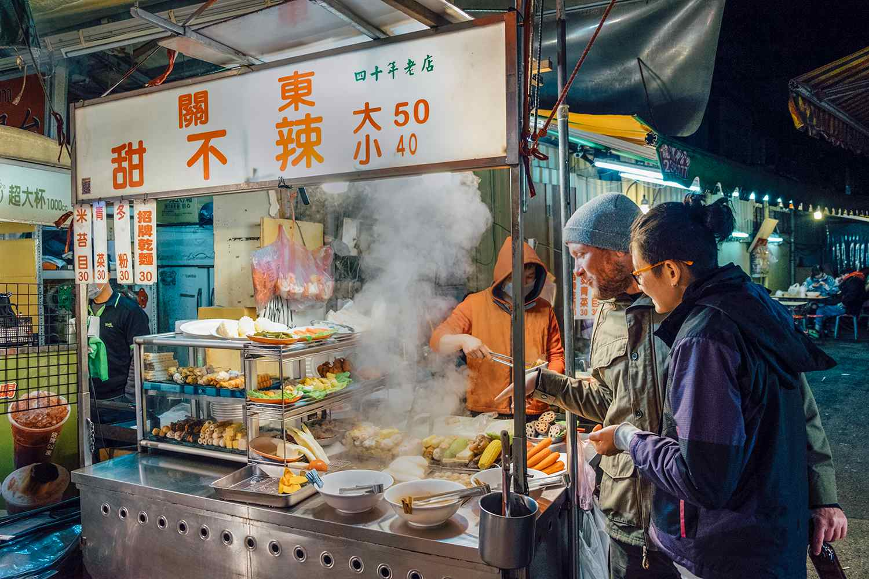 Food vendor at a Taiwan night market.