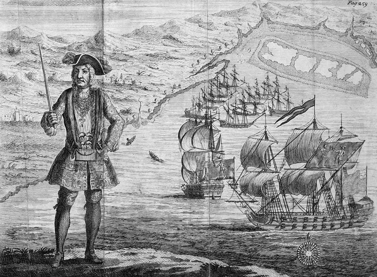 Captain Bartholomew Roberts with two Ships