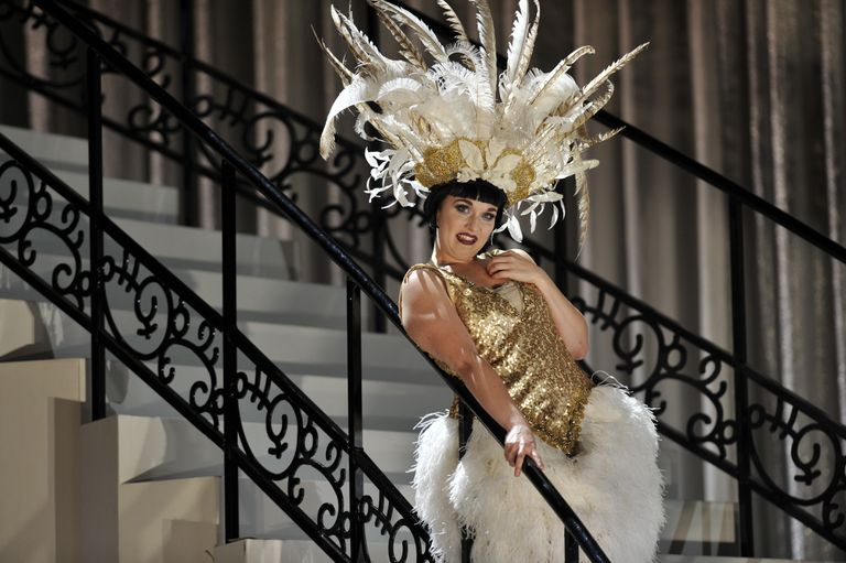 Rhian Lois as Adele in English National Opera's production of Johann Strauss's Die Fledermaus