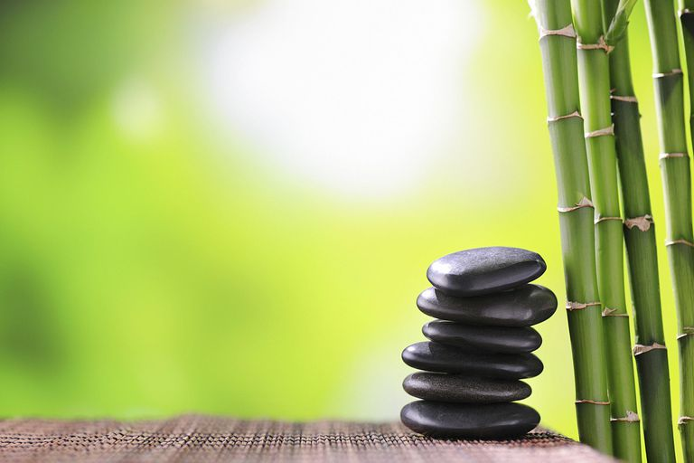 Stacked Stones / Green Bamboo