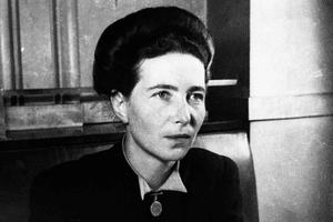Portrait of Simone de Beauvoir