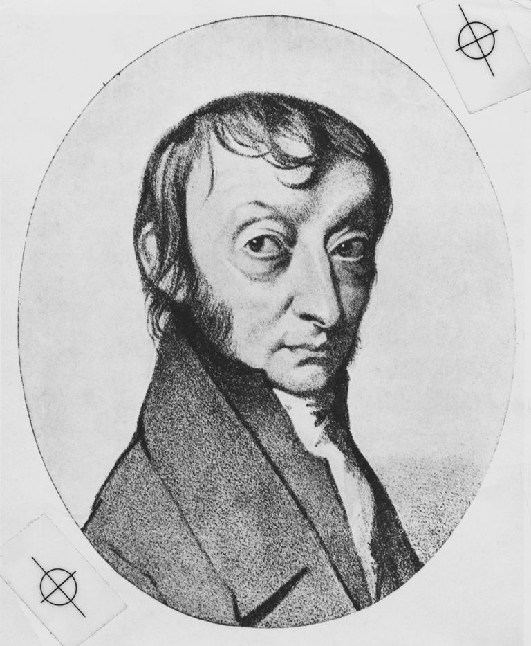 Engraved portrait of Amedeo Avogadro