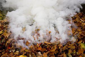 Smoke from domestic bonfire, UK