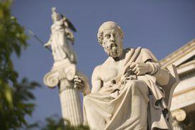Plato Statue Outside the Hellenic Academy