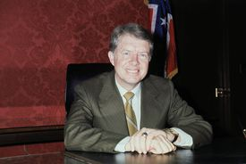 Jimmy Carter at a desk