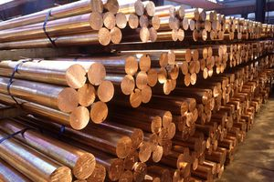 Bars of tethered copper, one of the first metals to be used by humans