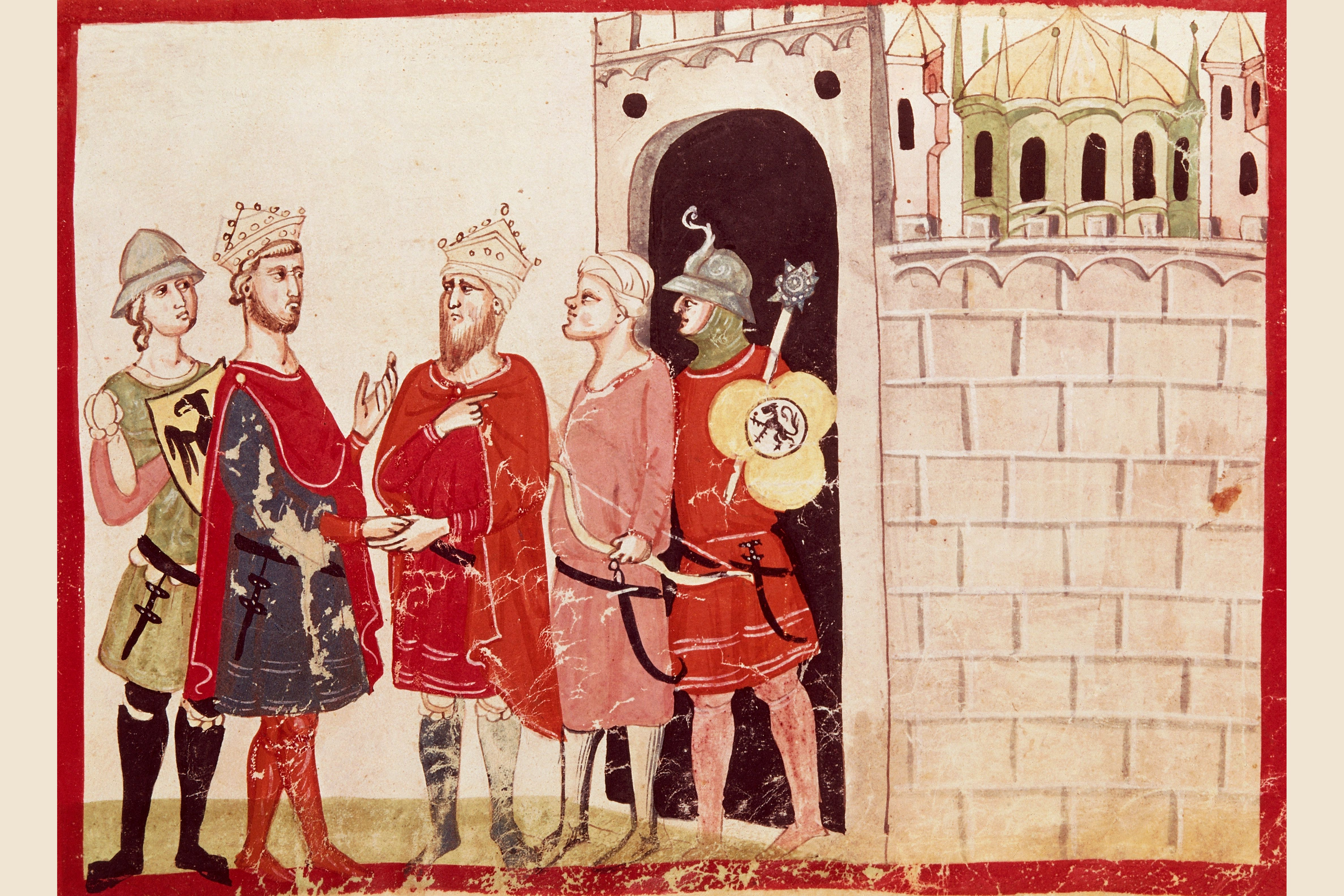 Frederick II negotiating with the Sultan of Jerusalem