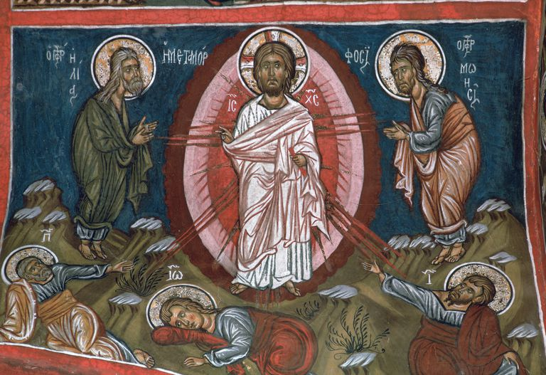 The Transfiguration of Christ, 12th century painting