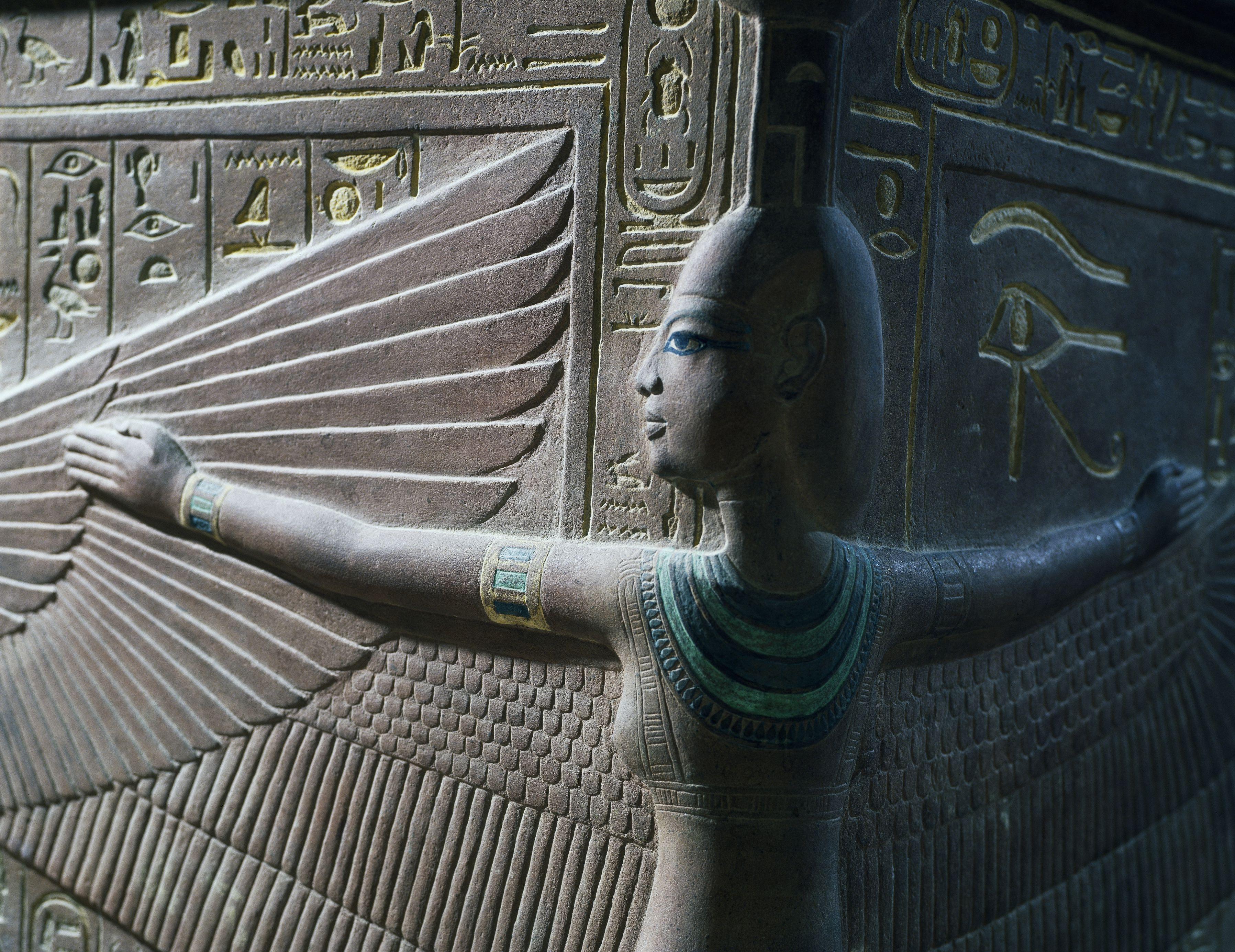 Hieroglyphic depiction of goddess Nephthys.