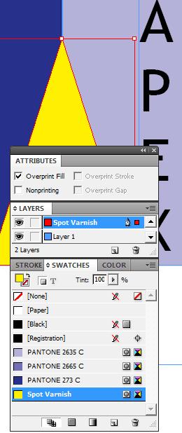 Specifying Spot Varnish in InDesign